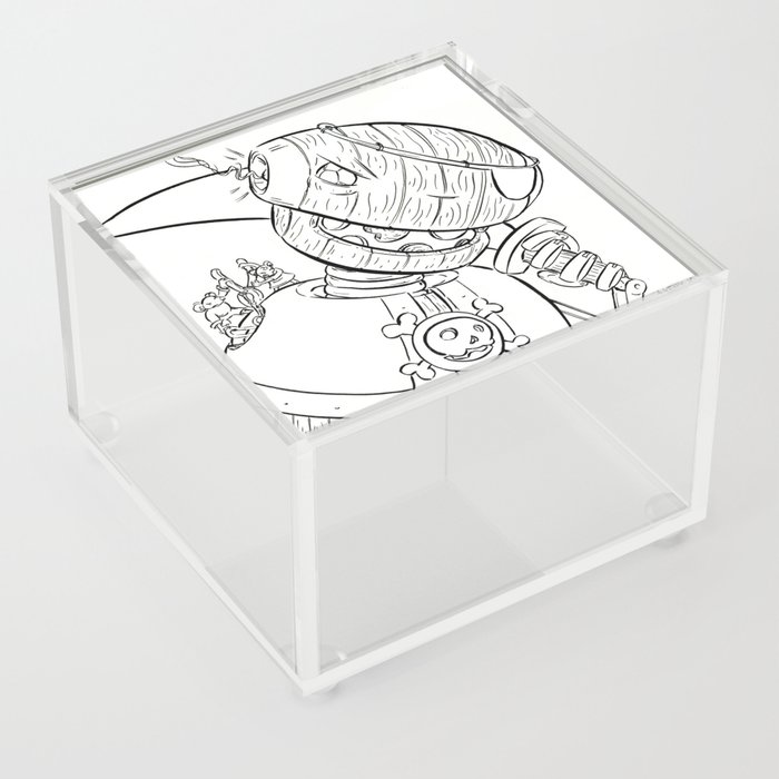 Robot Pirate - ink Acrylic Box