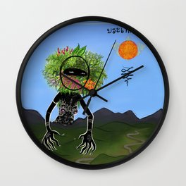 Mother Nature Massages the Hills into Place Wall Clock