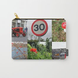 Pillar Box Red Photo Collage Carry-All Pouch