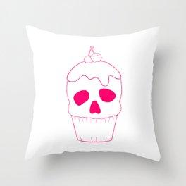 Skullcake Pink Throw Pillow