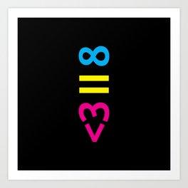 Infinity Equals Love Art Print