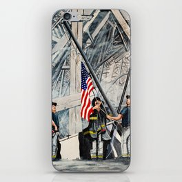 Firefighters Raising the Flag at Ground Zero iPhone Skin