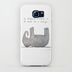 an elephant, sleeping on its back for a change Slim Case Galaxy S7