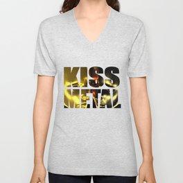 KISS METAL Unisex V-Neck