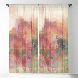 Still life with flowers Sheer Curtain
