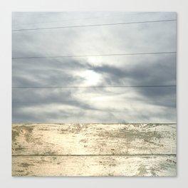 landscape 001: telegraph sky over white woods Canvas Print