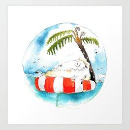 Sheepisland Art Print