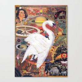 Swan Space Canvas Print