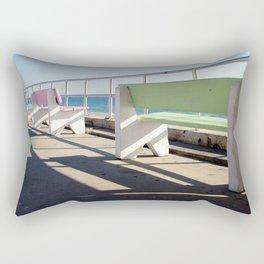 Beach Benches Rectangular Pillow