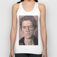 lou reed Tank Tops featuring Lou by Charles Ellison