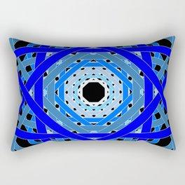 Not Quite Tangled Inside Out (Black Light Version) Rectangular Pillow