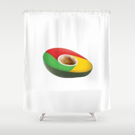 Browser Avacado Shower Curtain