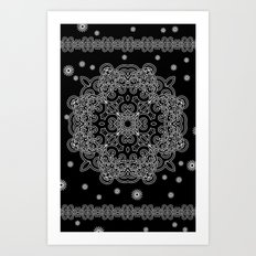 Elegant Black and White Mandala Case Art Print
