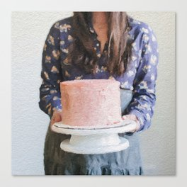 For Your Birthday, I Baked You a Cake. Canvas Print
