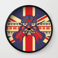 british Wall Clocks featuring British Rock by Ornaart