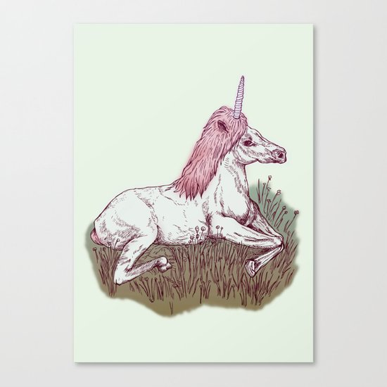 The Resting Unicorn Canvas Print