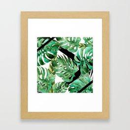 Abstract Monstera Framed Art Print