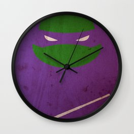 TMNT Donnie poster Wall Clock