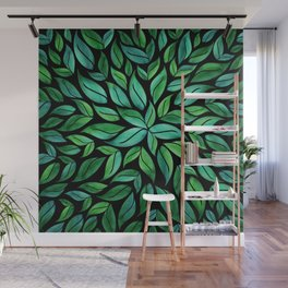 Night Leaves Wall Mural
