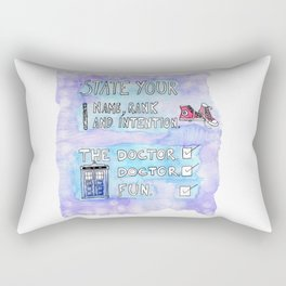 The Doctor's Name, Rank and Intention Rectangular Pillow