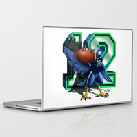 seahawks Laptop & iPad Skins featuring 12thMan by Dreamstate Design