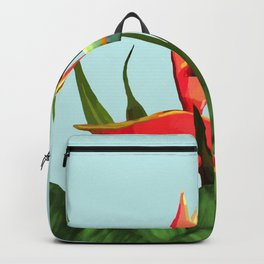 Toucan Tropical Banana Leaves Bouquet Backpack