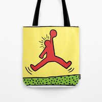 keith haring Tote Bags featuring Air Haring by 2323