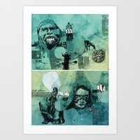 mexico Art Prints featuring Mexico by Simon Prades
