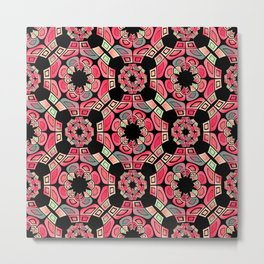 Geometric tribal pattern Metal Print