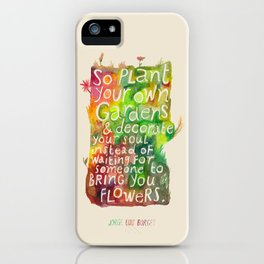 Jorge Luis Borges iPhone Case