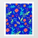 Blue Garden #illustration #pattern by 83oranges
