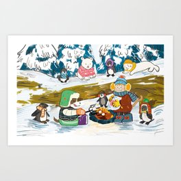 Winter Holiday S'morefest Art Print