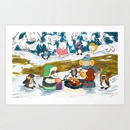 Winter Holiday S'morefest Art Print