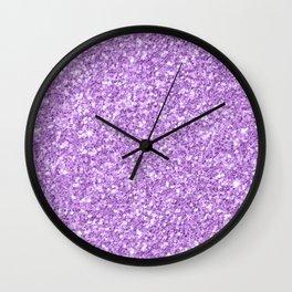 Purple Glitter Wall Clock