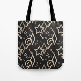 Geometric abstract pattern . Star grunge . Tote Bag