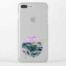 Aesthetic Vaporwave Meme Gift Emotional Vaporwave Clear iPhone Case