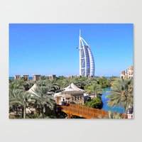 arab Canvas Prints featuring Dubai - Burj Al Arab by Art-Motiva