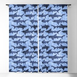 Blue Ocean Shark Blackout Curtain