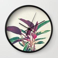 Prayer Plant Wall Clock