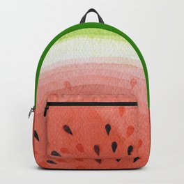Watermelon, fruit illustration kitchen watercolor painting graphic Backpack