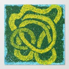 Mosaic: Yellow Ribbon Canvas Print