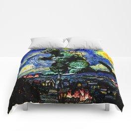 Godzilla versus Starry Night Comforters