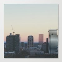 portland Canvas Prints featuring Portland by Hannah Kemp