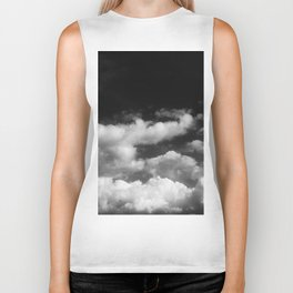 Clouds in black and white Biker Tank