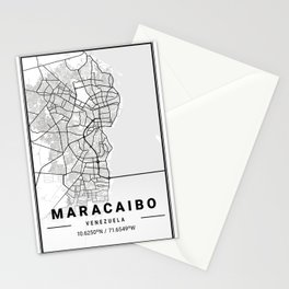 Maracaibo Light City Map Stationery Cards