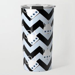 blue teapot chevron Travel Mug