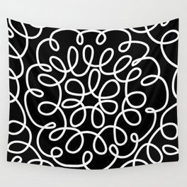 Hand drawn flower doodle circles Wall Tapestry