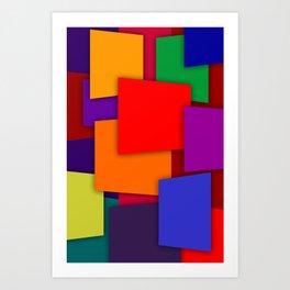 Color Bars #6 Art Print