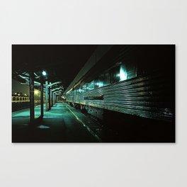 Blue train Canvas Print