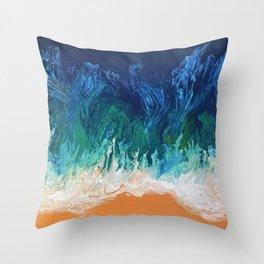 Blue Fusion Throw Pillow